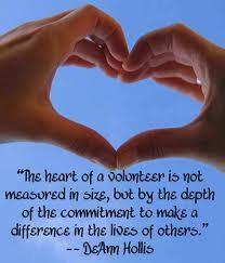 """Are we """"Just"""" Volunteers?"""