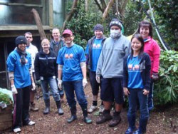 BNZ Volunteers at the Auckland Zoo
